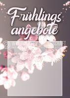 Frühlingsangebote Poster | Werbetafel für den Frühling