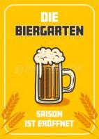 Biergartensaison eröffnet Werbeposter | Plakat für Werbeaufsteller