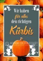 Der richtige Kürbis Poster | Werbetafel zu Halloween