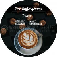 Rund | Kaffeegenuss Plakat | Werbeposter Kaffee | Rundformat