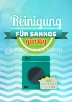 Reinigung für Sakkos Plakatwerbung   Poster auch in DIN A 0