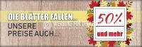 3:1 | Die Blätter fallen Poster | Werbetafel für Geschäfte | 3 zu 1 Format