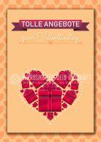 Tolle Angebote zum Valentinstag Werbebanner | Plakat auch in DIN A 4