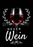 Neuer Wein Poster | Werbetafel für Wein