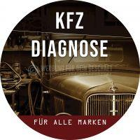 Rund | KFZ Diagnose für alle Marken Poster | Werbung für Plakatständer | Rundformat