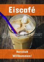 Eiscafé Plakat | Herzlich Willkommen