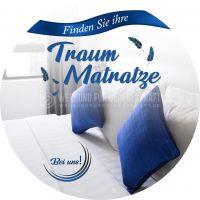 Rund   Finden Sie Ihre Traum Matratze Poster   Werbebanner für Bettengeschäft   Rundformat