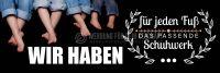 3:1 | Das passende Schuhwerk Poster | Werbeposter für Schuhgeschäft | 3 zu 1 Format
