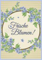 Frische Blumen Werbeschild | Werbung Plakat erstellen