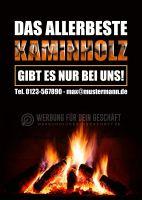 Allerbestes Kaminholz Plakat | Poster auch in DIN A 0