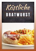 Köstliche Bratwurst Poster | Werbeposter Imbiss