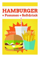 Hamburger Menü Plakat