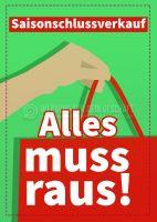 Saisonschlussverkauf Werbetafel | Plakat auch in DIN A 3