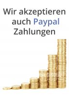 Wir akzeptieren auch Paypal Poster | Plakat auch in DIN A 0