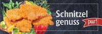 3:1 | Schnitzelgenuss pur Plakatwerbung | Werbebanner für Imbiss | 3 zu 1 Format