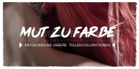 2:1 | Mut zur Farbe Poster | Werbeschild für Friseure | 2 zu 1 Format
