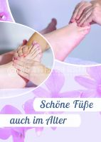 Schöne Füße auch im Alter Plakat | Werbeplakat für Fußpflege