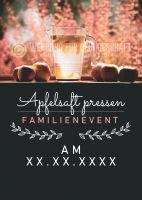 Apfelsaft pressen Plakat | Werbeplakat für Events