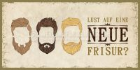 2:1 | Lust auf eine neue Frisur Poster | Plakat für Werbeaufsteller | 2 zu 1 Format