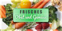 2:1 | Obst und Gemüse Plakat | Werbeposter Obst und Gemüse | 2 zu 1 Format