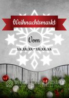 Weihnachtsmarkt Poster