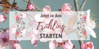 2:1 | In den Frühling starten Poster | Werbetafel für Frühling | 2 zu 1 Format