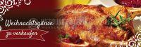 3:1 | Weihnachtsgänse zu verkaufen Poster | Werbung | 3 zu 1 Format