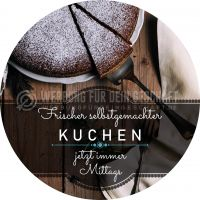 Rund | Frischer selbstgemachter Kuchen Plakat | Werbeplakat für Bäckerei | Rundformat