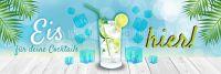 3:1 | Eis für deine Cocktails Plakat | Werbebanner für Eis | 3 zu 1 Format