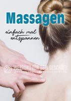 Massagen Plakat | Werbeplakate kaufen für Masseure und Spa