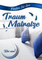 Finden Sie Ihre Traum Matratze Poster   Werbebanner für Bettengeschäft