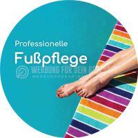Rund | Professionelle Fußpflege Werbebanner | Werbung für Plakatständer | Rundformat