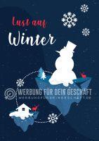 Lust auf Winter Plakat | Für Werbeaufsteller