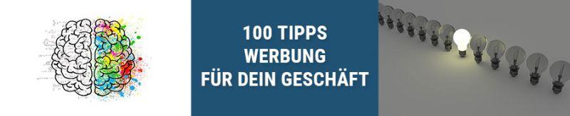 Banner 100 Tipps Werbung für dein Geschäft
