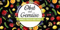 2:1 | Obst und Gemüse Poster | Werbebanner Obst und Gemüse | 2 zu 1 Format