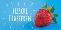 2:1   Frische Erdbeeren Plakat   Werbe-Plakat für Erdbeeren   2 zu 1 Format