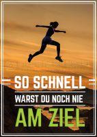 Schnell am Ziel Plakat | Werbetafel für Fitnessstudios