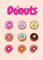 Donuts Poster | Werbe-Poster für Donuts