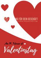 Valentinstag Plakat | Werbebanner für Valentinstag