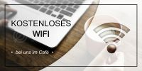 2:1 | Kostenloses WIFI Plakat | Werbebanner für Cafes | 2 zu 1 Format