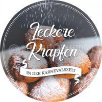 Rund | Leckere Krapfen Plakat | Werbeplakat für Bäckerei | Rundformat