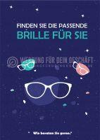Finden Sie die passende Brille Plakat | Werbetafel für Optiker