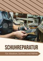 Schuhreparatur Werbebanner | Werbeposter für Plakatständer