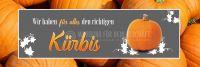 3:1 | Der richtige Kürbis Poster | Werbetafel für Gärtnerei | 3 zu 1 Format