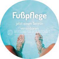 Rund | Fußpflege jetzt einen Termin vereinbaren Plakat | Poster kaufen | Rundformat