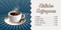 2:1 | Köstlicher Kaffeegenuss Poster | Werbebanner für dein Cafe | 2 zu 1 Format