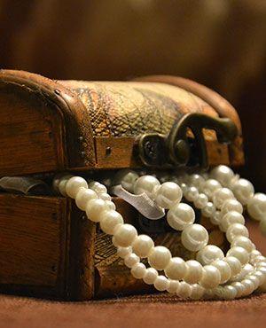 Schmuckschatulle für die Aufbewahrung von Juwelen