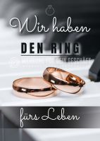 Wir haben den Ring Plakat | Werbeschild für Juwelier