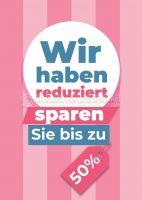 Wir haben reduziert Werbebanner | Plakat online drucken