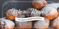 2:1 | Leckere Krapfen Plakat | Werbeplakat für Bäckerei | 2 zu 1 Format